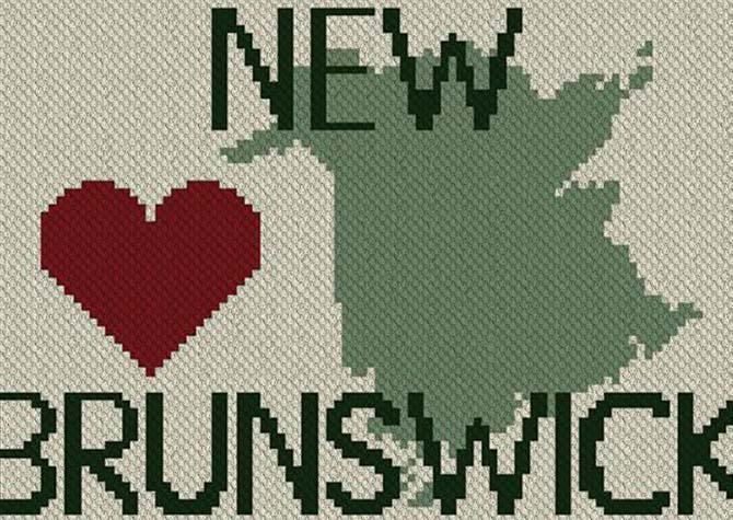 Heart New Brunswick C2C Afghan Crochet Pattern