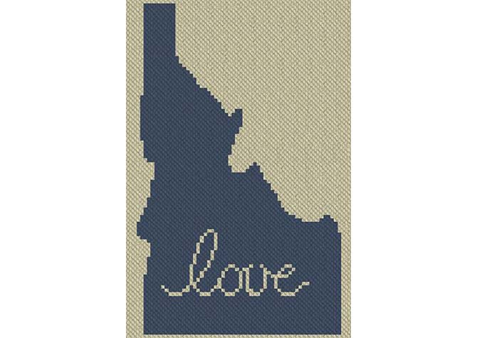 Idaho Love C2C Afghan Crochet Pattern