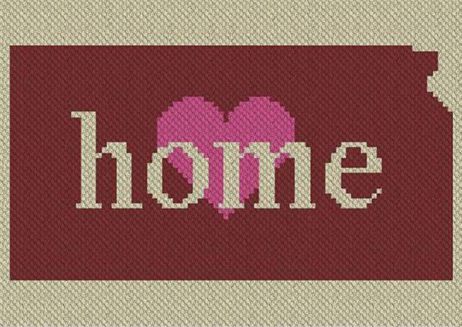Kansas Home C2C Afghan Crochet Pattern