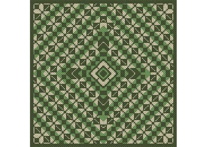 King Patty Pans Argyle Afghan C2C Crochet Pattern