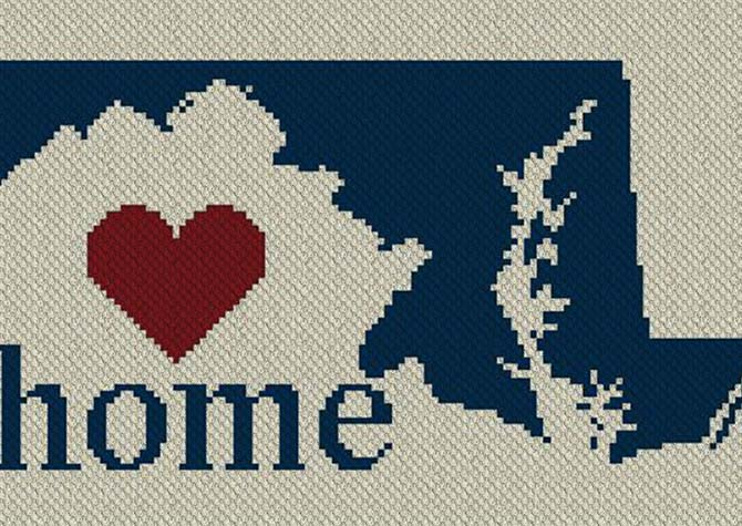 Maryland Home C2C Afghan Crochet Pattern
