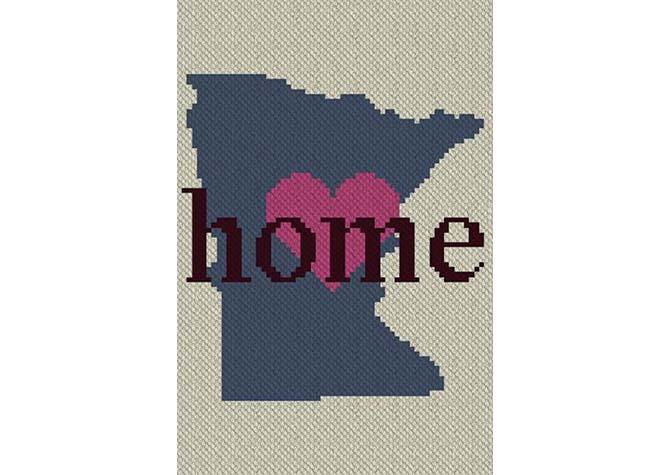 Minnesota Home C2C Crochet Pattern
