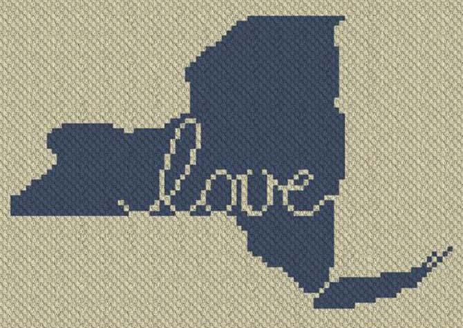 New York Love C2C Crochet Pattern