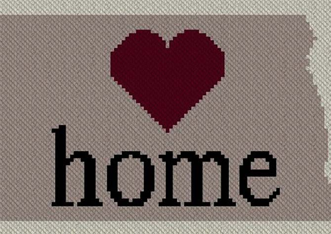 North Dakota Home C2C Afghan Crochet Pattern