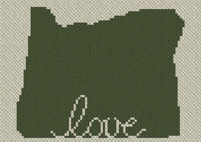 Oregon Love C2C Afghan Crochet Pattern