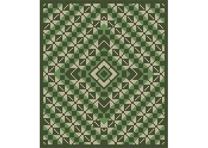 Queen Patty Pans Argyle Afghan C2C Crochet Pattern