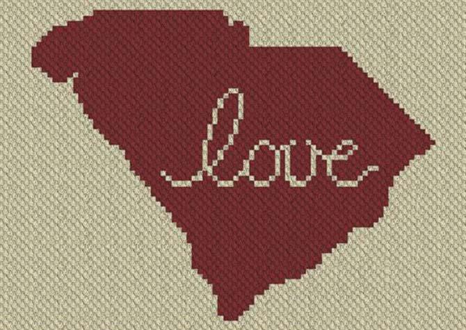 South Carolina Love C2C Crochet Pattern