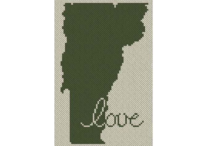 Vermont Love C2C Afghan Crochet Pattern