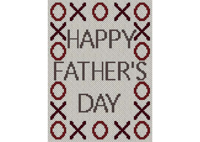 XOXO Happy Father's Day C2C Afghan Crochet Pattern