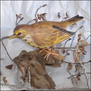 Veery Bird Handmade Woodcraft