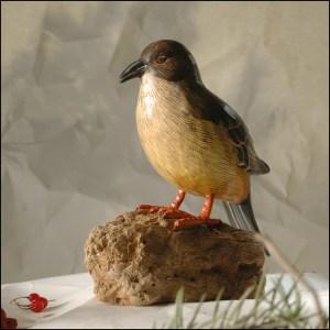 Say's phoebe Bird Handmade Woodcraft