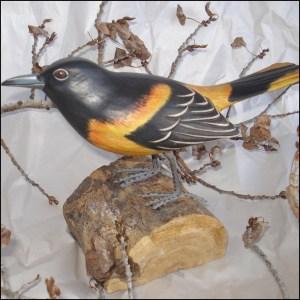 Northern Oriole Bird Handmade Woodcraft
