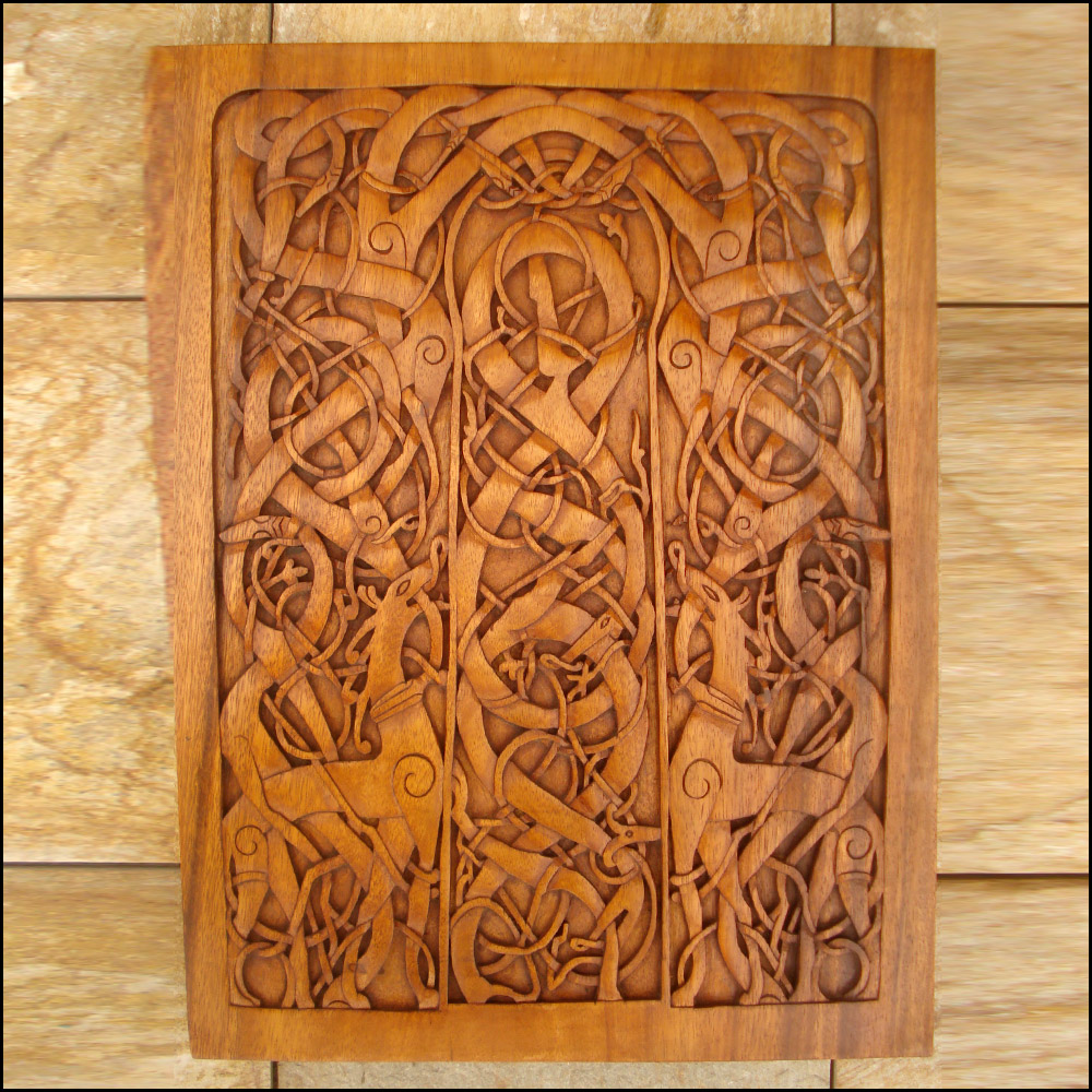 vm 06 urnes church door panel celtic viking and l