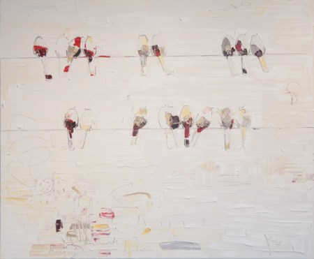 "Lisa Lala ""Running Towards"" oil on canvas 66"" x 80"" $6065"