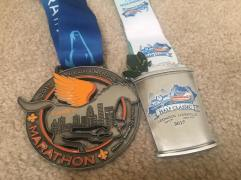 My #KDFMarathon and Half Classic medals - two of my favorites to date!