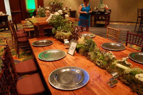 Organic Flower Table Runner