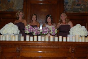 Bridesmaid and brides bouqets.