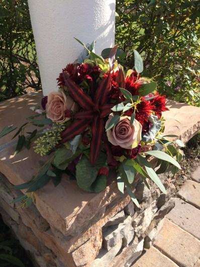 Succulent, Marsala bouquet