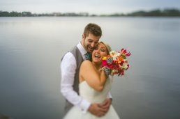 Absolute happiness bride and groom