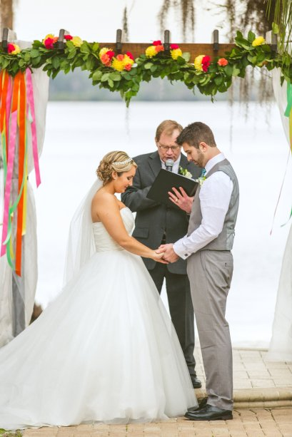 Beautiful ceremony in prayer