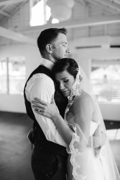 Special moment caught of bride and her groom