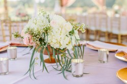 Bluegrass Chic centerpieces and candles
