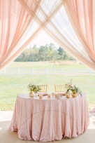 Sweetheart table set for our lovely bride and her groom