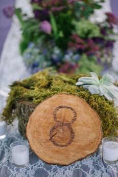 Isola Farms Wedding; Sheet Moss and Succulent Arrangement