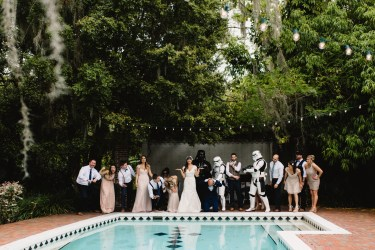 When the wedding gets a special visit from some Star Wars villains.