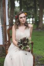 Greens bridesmaid bouquet