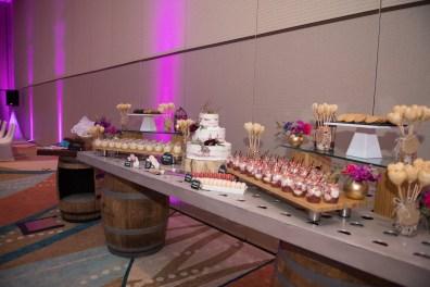 Dessert Buffet on wine barrels
