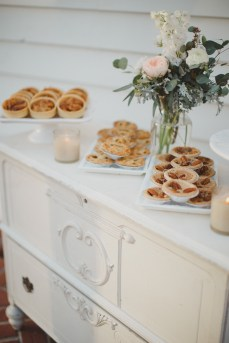 Two Sweets dessert table with floral