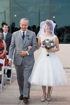 Father walking his little girl down the aisle. That moment when you see your bride.