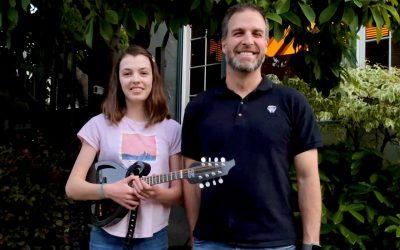 Nick Khadder wins first Strings for Dreams Bluegrass Raffle