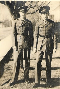 Dad with friend 1943