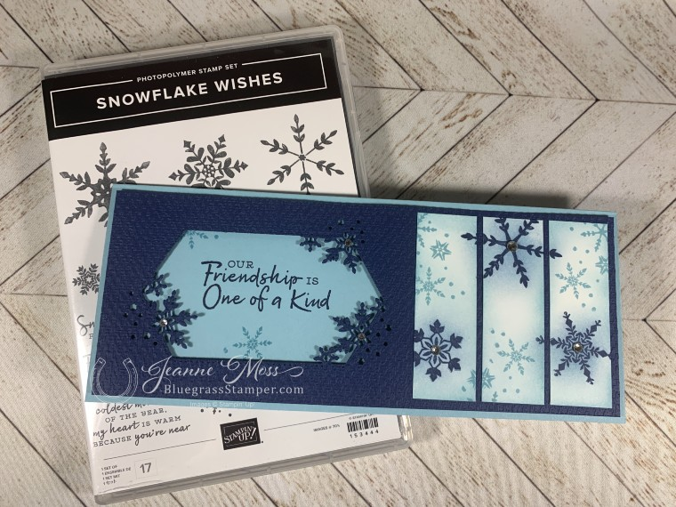 Snowflake Wishes Slimline Card