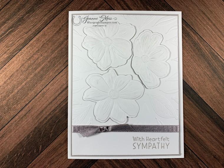 Bloom Hytbrid EF Sympathy Card w Gray Granite Layer