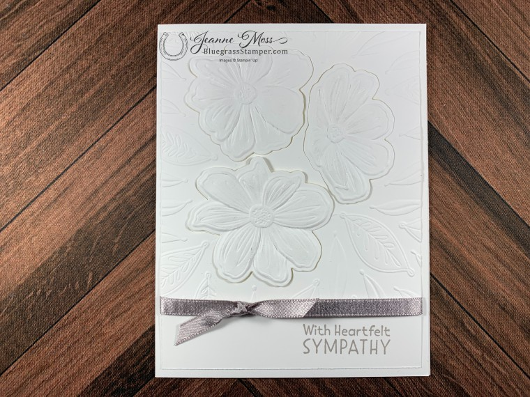 All White Sympathy Card 2