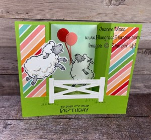 September Special Counting Sheep Bridge Card