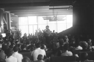 Sam Hinton at UC Berkeley Folk Festival, 1965.