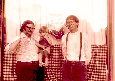 Don Robertson, bartender at the Bluebird, along with Misha and Peter Feldmann