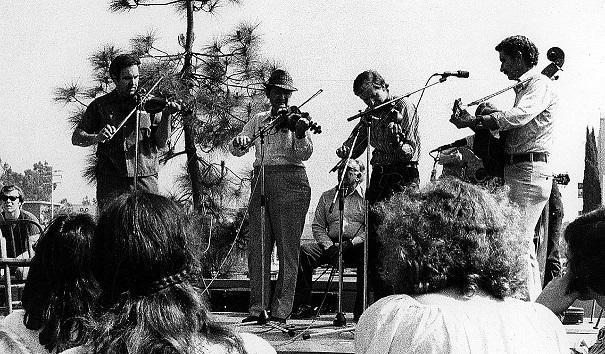 Mark Savois, Dewey Balfa, Peter Feldmann, & Rodney Balfa. San Diego Folk Festiva;