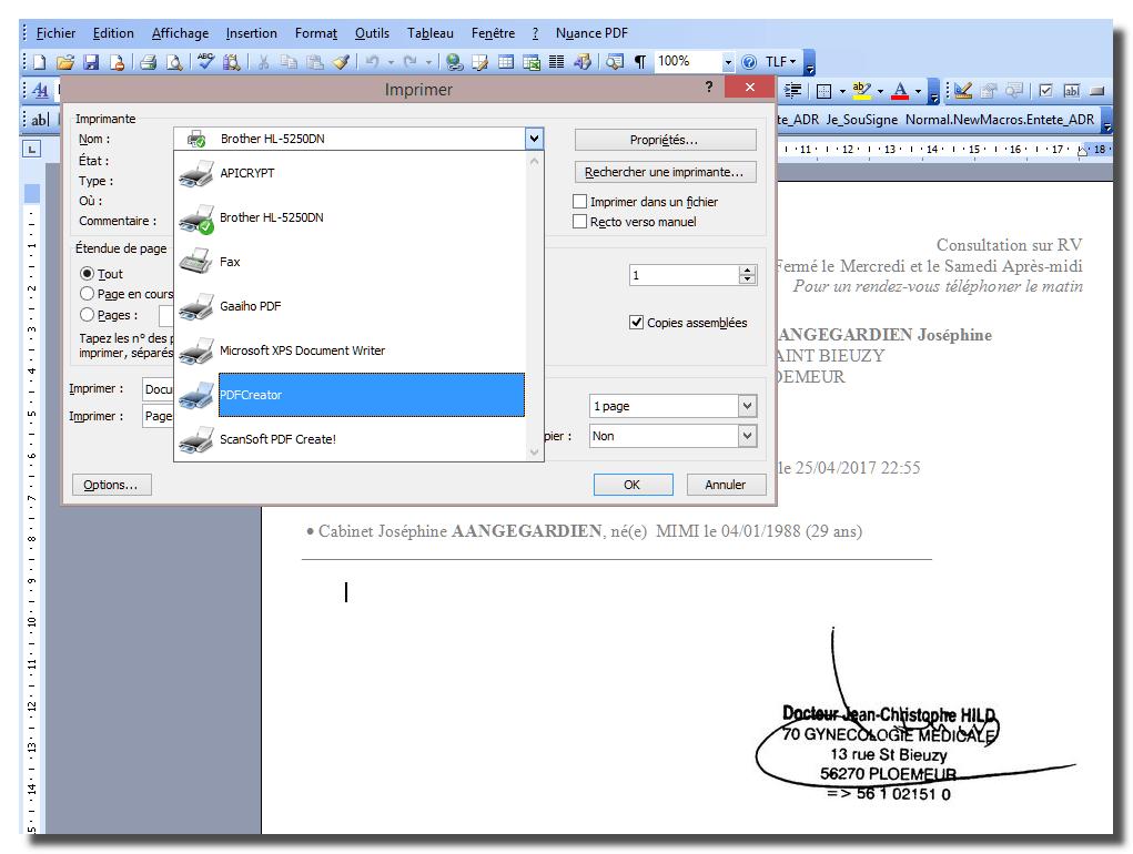 MEDYCS: Envoyer une ordonnance en PDF