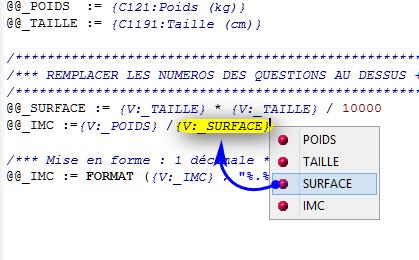 Médycs: IMC (Utilisation des variables @@_)