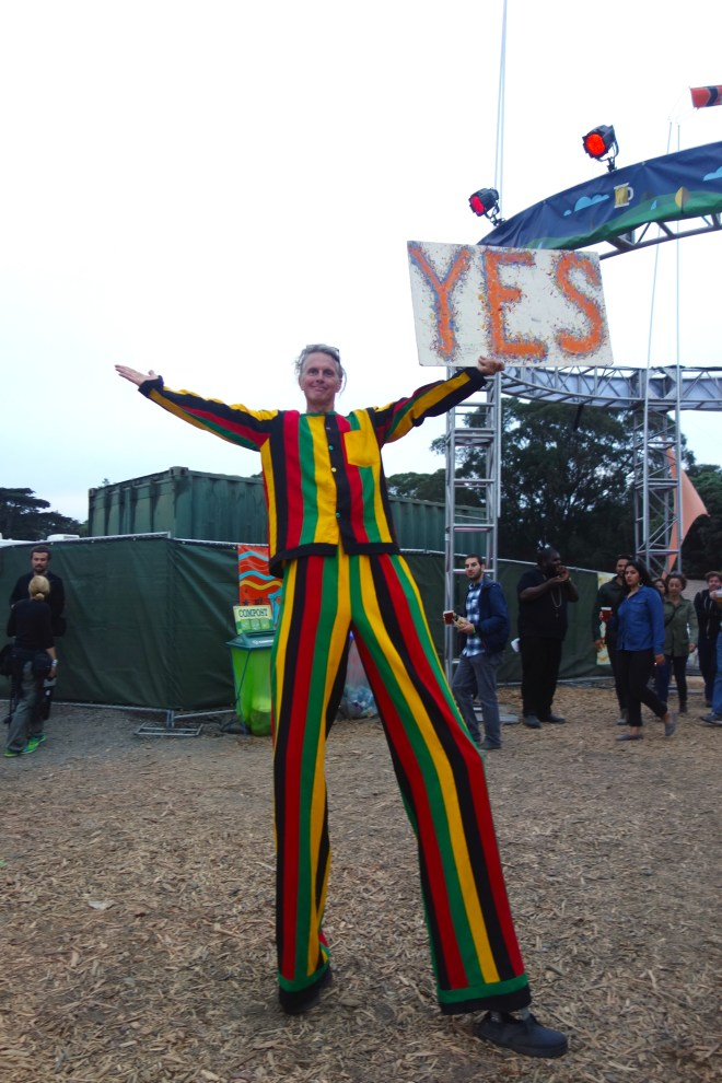 Stilt Man at Outside Lands