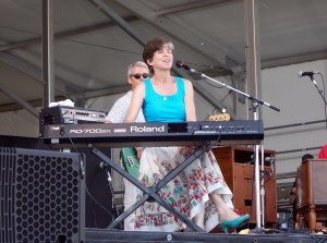 Marcia Ball, a local favorite, on keyboard