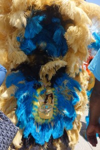 Parade with Mardi Gras Indian