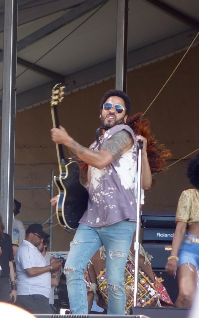 Lenny Kravitz on the Acura Stage