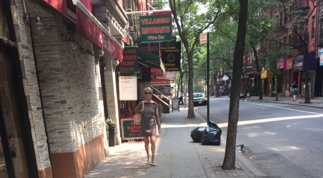 Strolling in Greenwich Village early Sunday morning