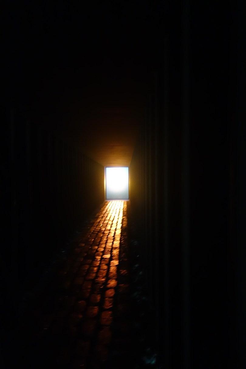 Yukinori Yanagi's use of an old copper mine to depict sunlight through mirrors